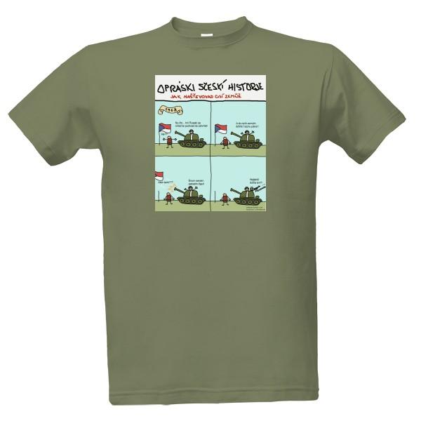 Tričko s potiskem 1968 Invaze  9a070562c4